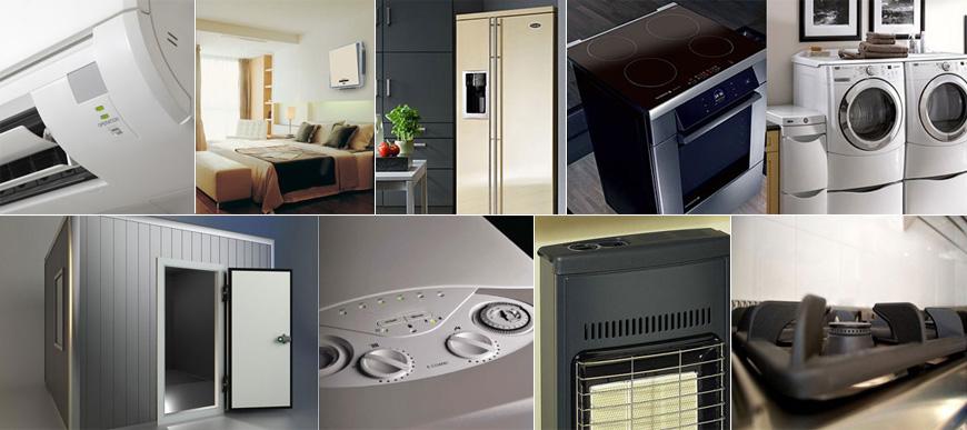Elettrodomestici, Climatizzazione, Refrigerazione industriale, Riscaldamento, Ricambi e Accessori